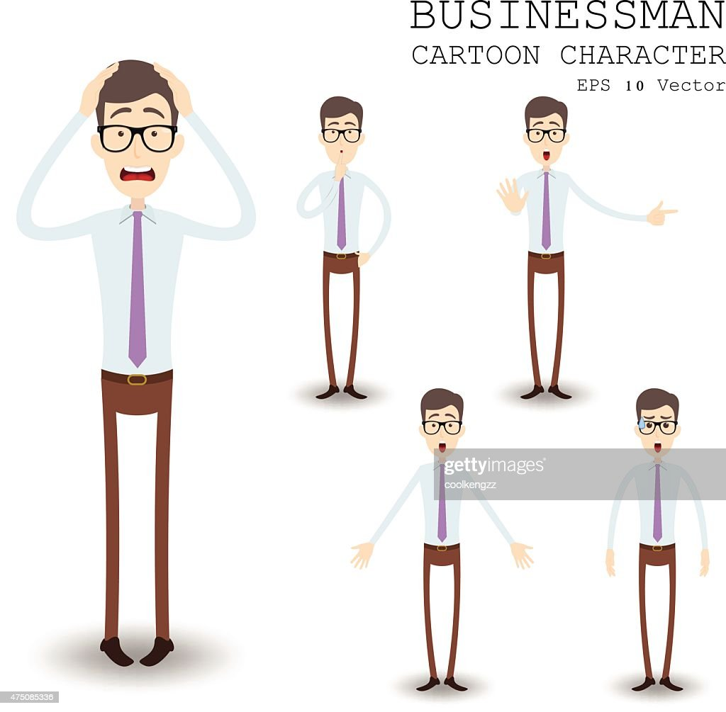 Businessman cartoon character eps 10 vector illustration