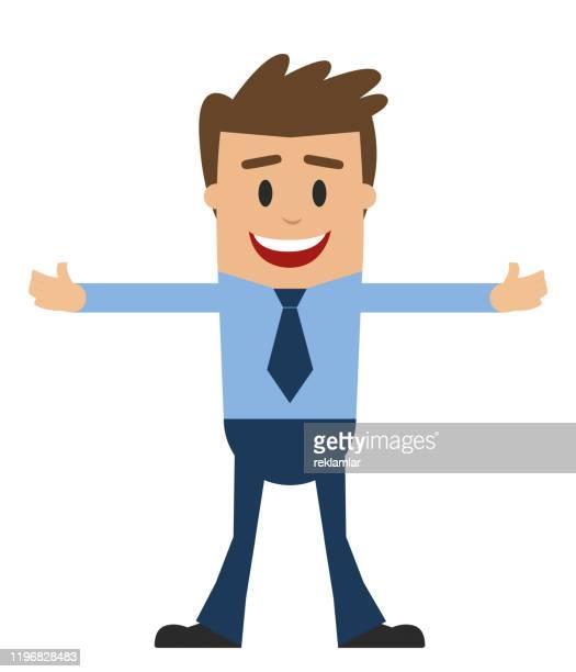 ビジネスマン漫画男性キャラクターデザイン。 - 男性一人点のイラスト素材/クリップアート素材/マンガ素材/アイコン素材