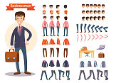 Businessman cartoon personage generator vector