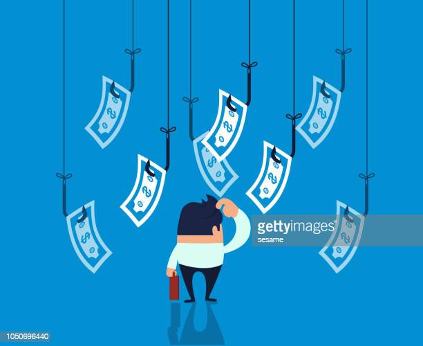 businessman caught in a trap - loan stock illustrations