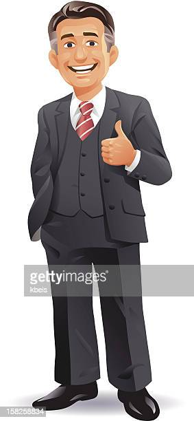 businessman ceo - mature adult stock illustrations
