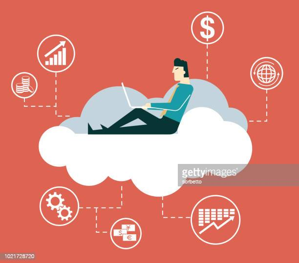 Businessman - Cloud Computing