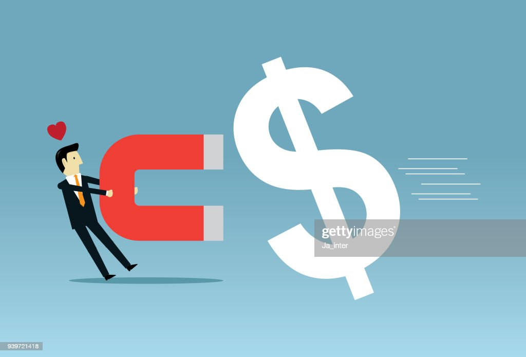businessman collecting money vector art getty images