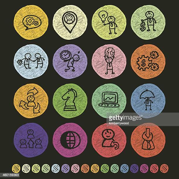 ilustraciones, imágenes clip art, dibujos animados e iconos de stock de empresario concepto - tablero ajedrez