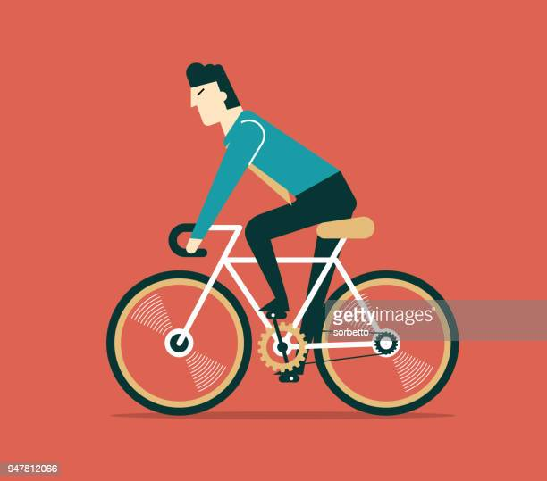 businessman cycling - businesswear stock illustrations