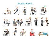 Businessman daily routine.