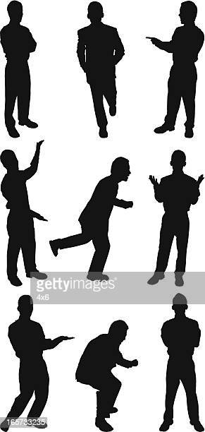 businessman doing different activities - viewpoint stock illustrations