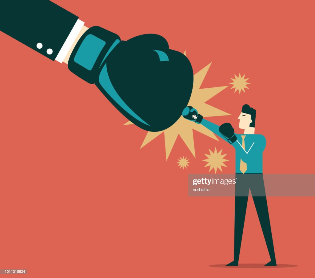 Businessman fighting : stock illustration