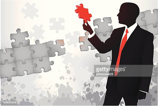 Businessman finding the solution to the problem