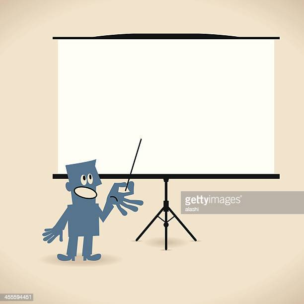 Businessman giving a presentation in a conference/meeting setting