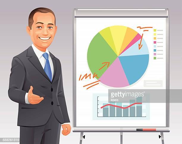 Geschäftsmann eine Präsentation