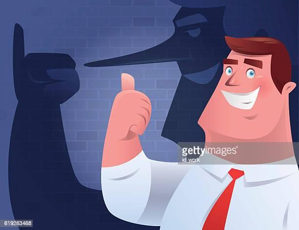ビジネスマンギブ親指を立てる