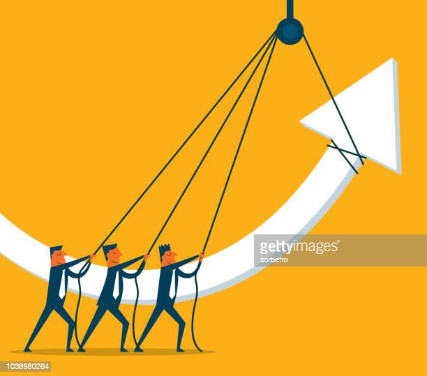 Businessman - Growth Arrow