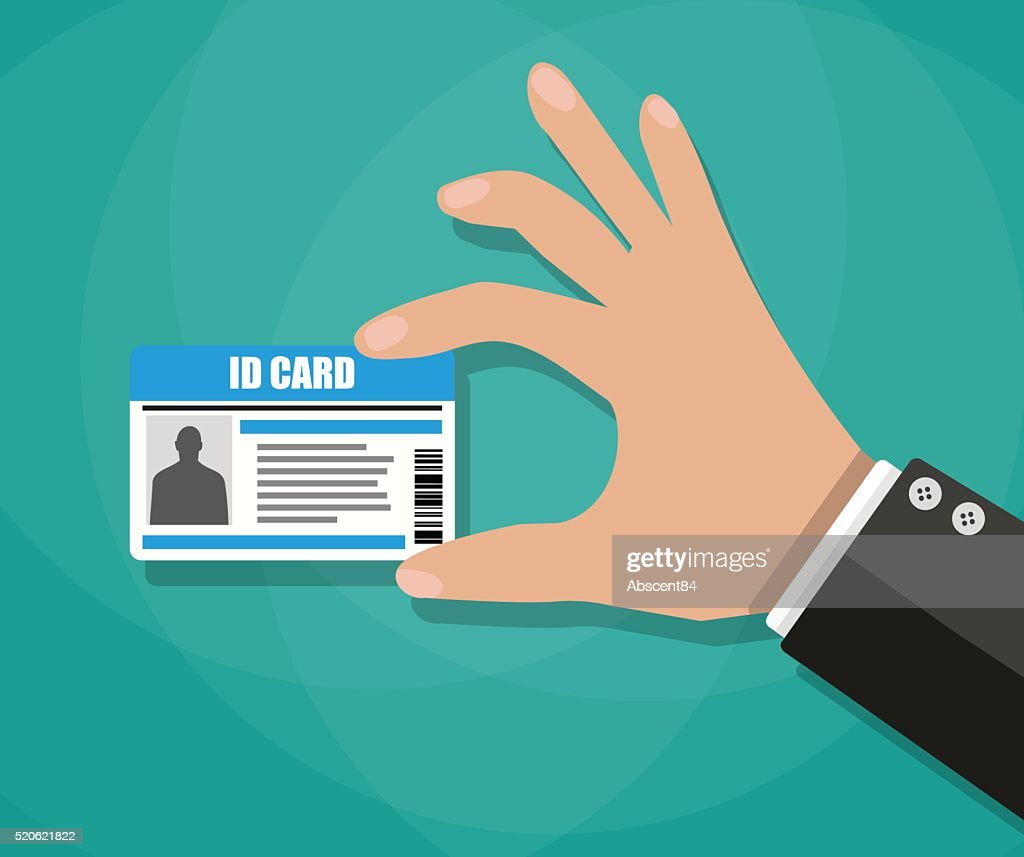Businessman Hand holding Id card
