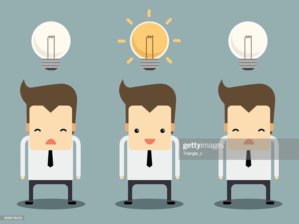 businessman have an idea