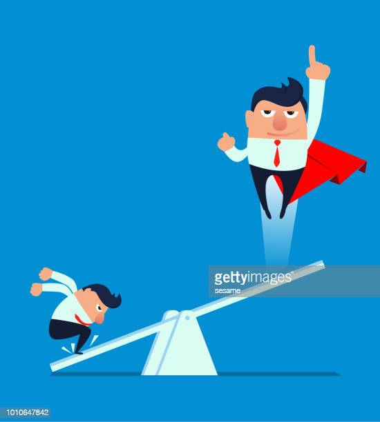 businessman helping colleague take off - tall high stock illustrations