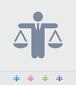 Businessman Holding Scales - Granite Icons