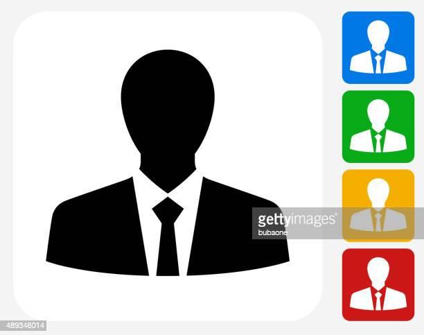 Businessman Icon Flat Graphic Design