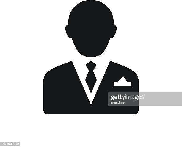 Businessman icon on a white background.