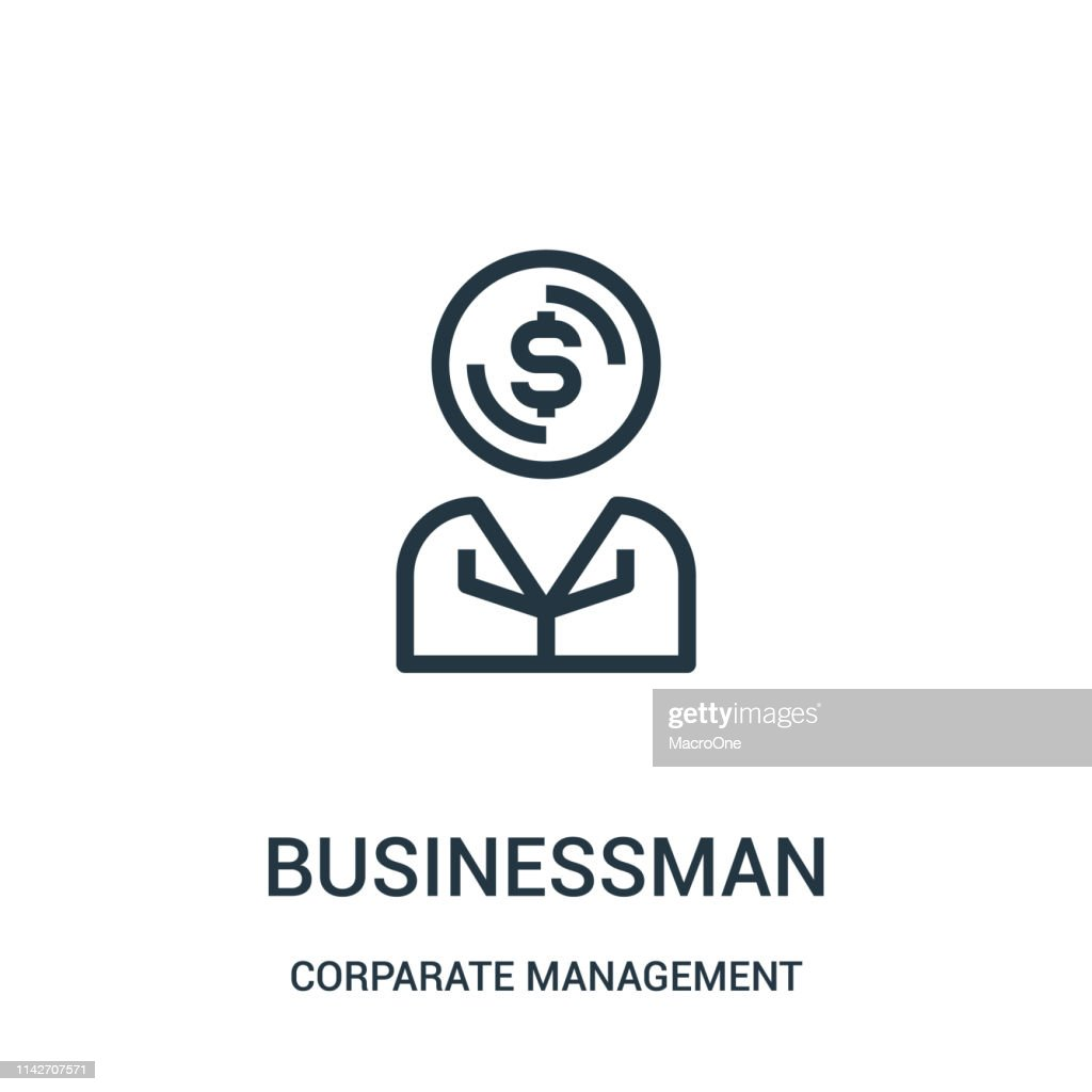 businessman icon vector from corparate management collection. Thin line businessman outline icon vector illustration. Linear symbol for use on web and mobile apps, logo, print media.