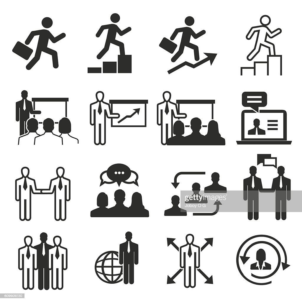 Businessman Icons set