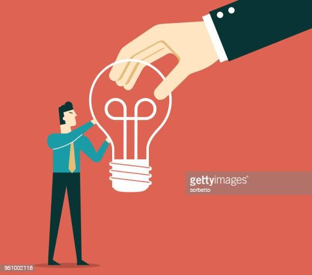 businessman - idea light bulb