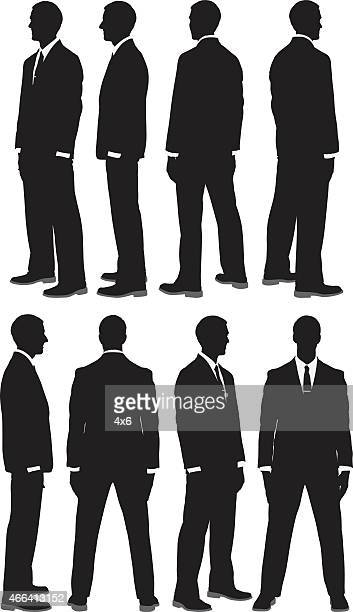 Businessman in 360 degree view