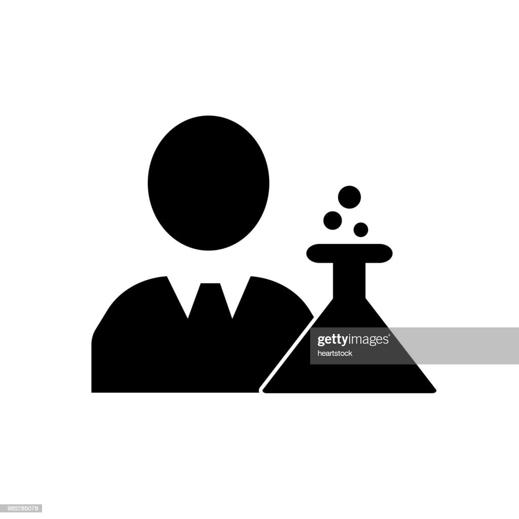 Businessman in a lab flask experimentation symbol icon vector icon. Simple element illustration. Businessman in a lab flask experimentation symbol symbol design. Can be used for web and mobile.
