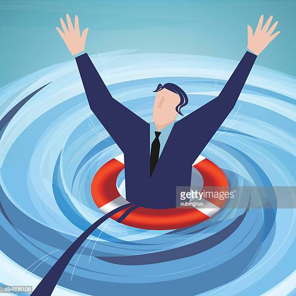 Businessman in a whirlpool