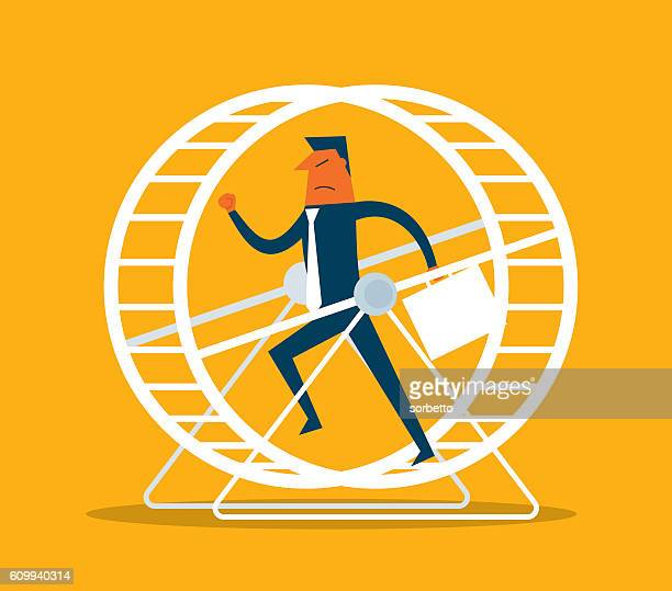 Businessman in Hamster Wheel