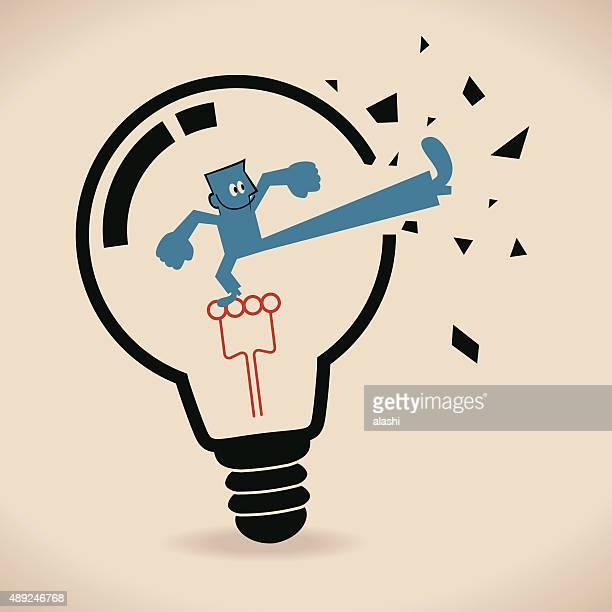 ビジネスマンに電球、速報を満喫しましょう。