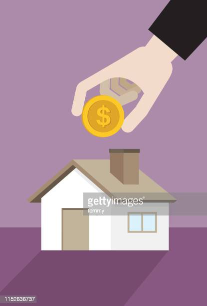 businessman investment in real estate - commercial real estate stock illustrations