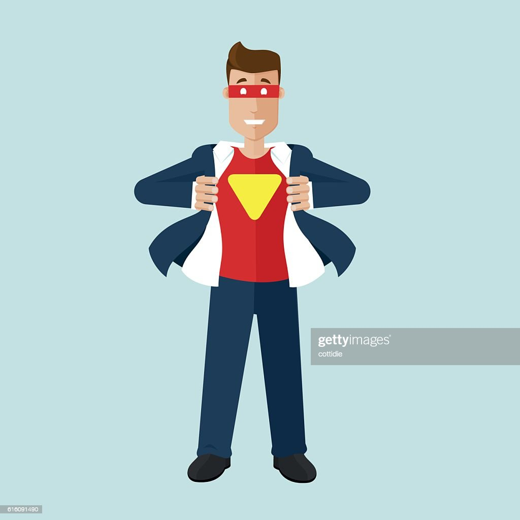 Businessman is in realy a superhero