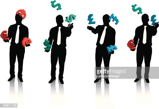Businessman Juggling currency