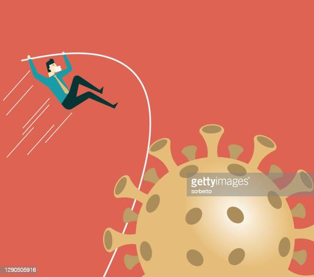 businessman jumping - men's field event stock illustrations