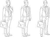 Businessman Line Drawing