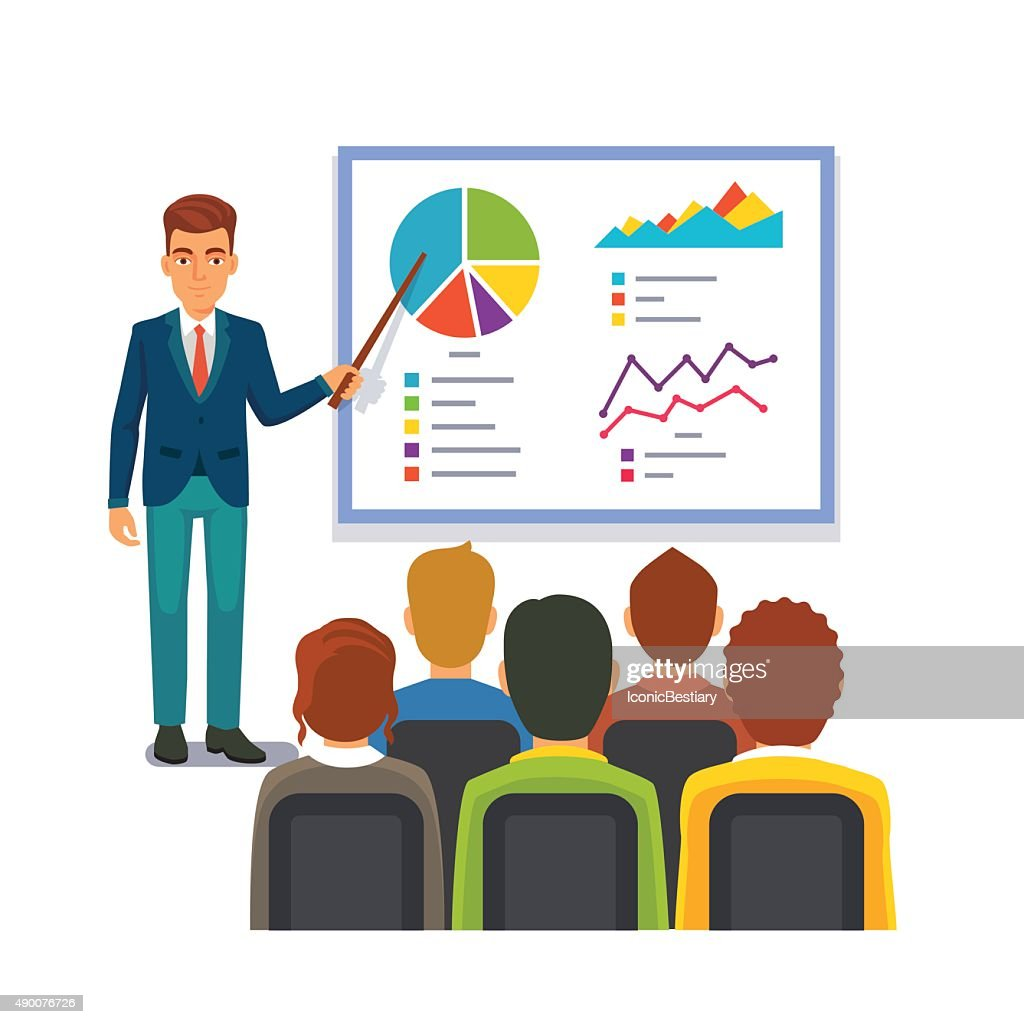 Businessman making presentation. Business seminar