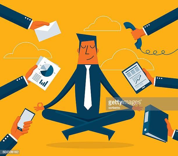 Homme d'affaires de méditation