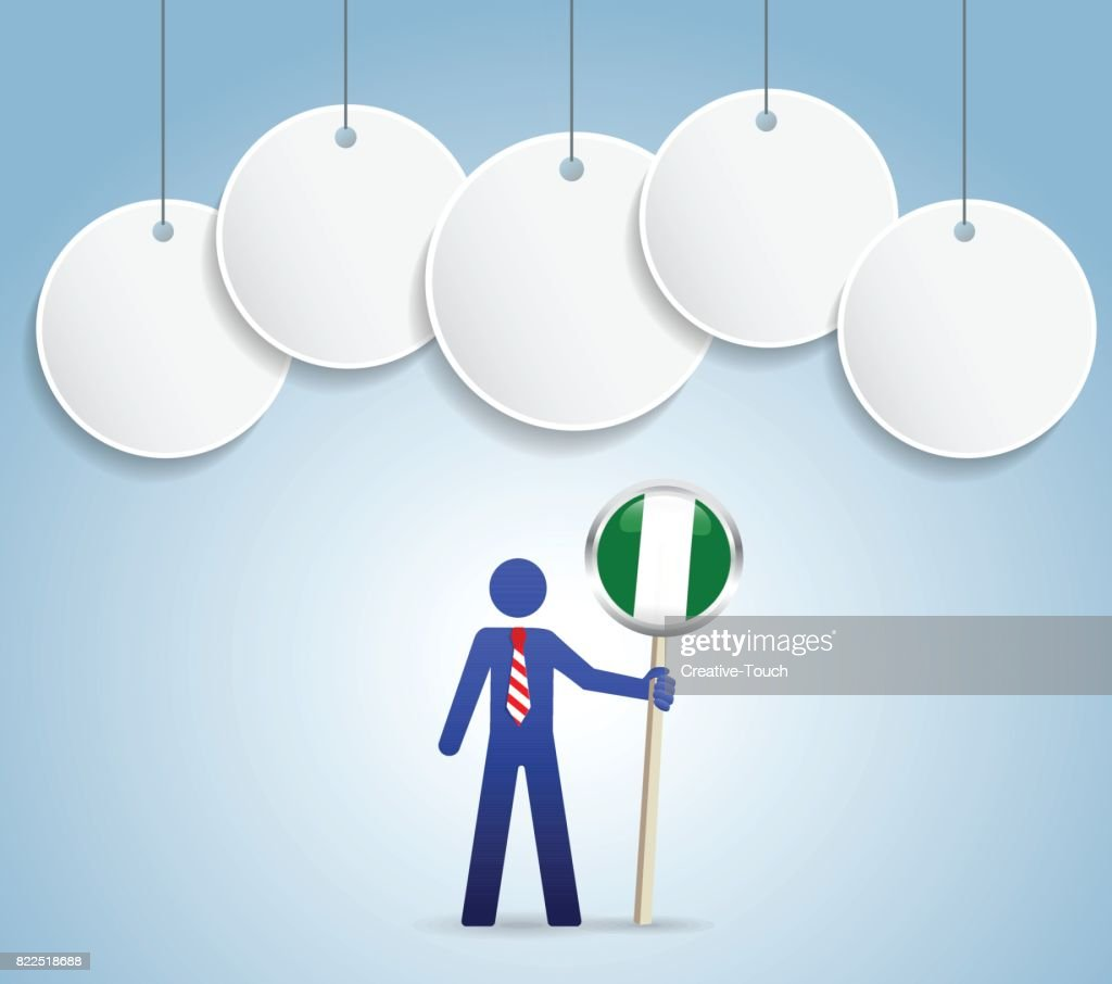 Businessman nigeria concept : stock illustration