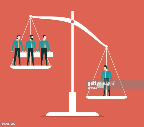 businessman on scales - mass stock illustrations