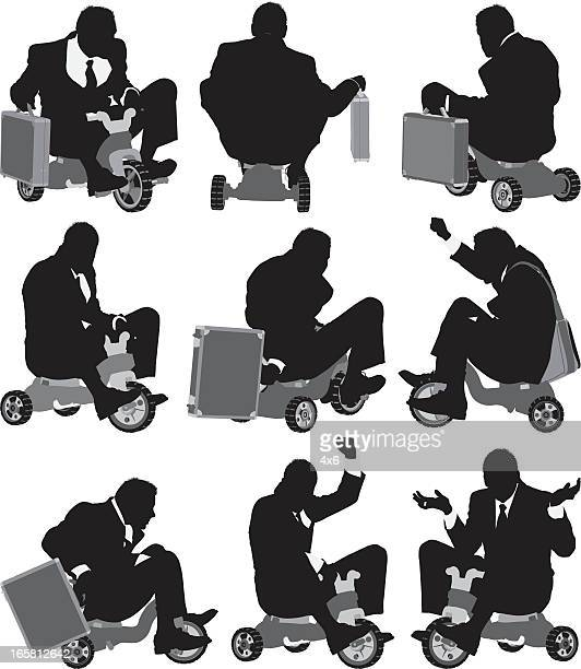 Businessman on tricycle