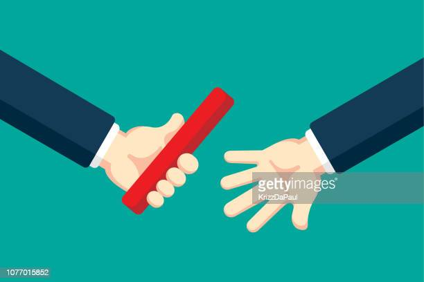businessman passing the baton - receiving stock illustrations
