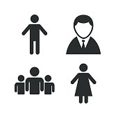Businessman person icon. Group of people symbol
