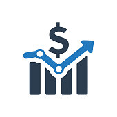 Businessman, presentation, profit icon