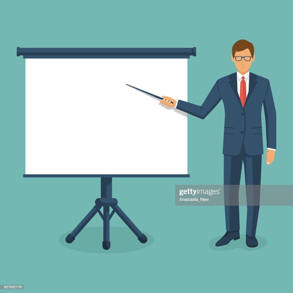 Businessman presenting vector