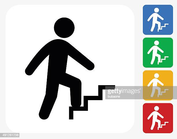 Businessman Progress Icon Flat Graphic Design