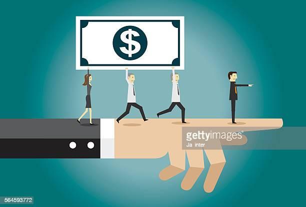 businessman running with dollar - card file stock-grafiken, -clipart, -cartoons und -symbole