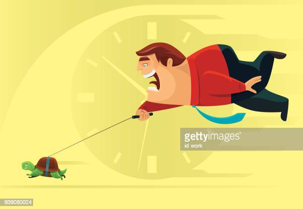 businessman running with tortoise - slow stock illustrations, clip art, cartoons, & icons