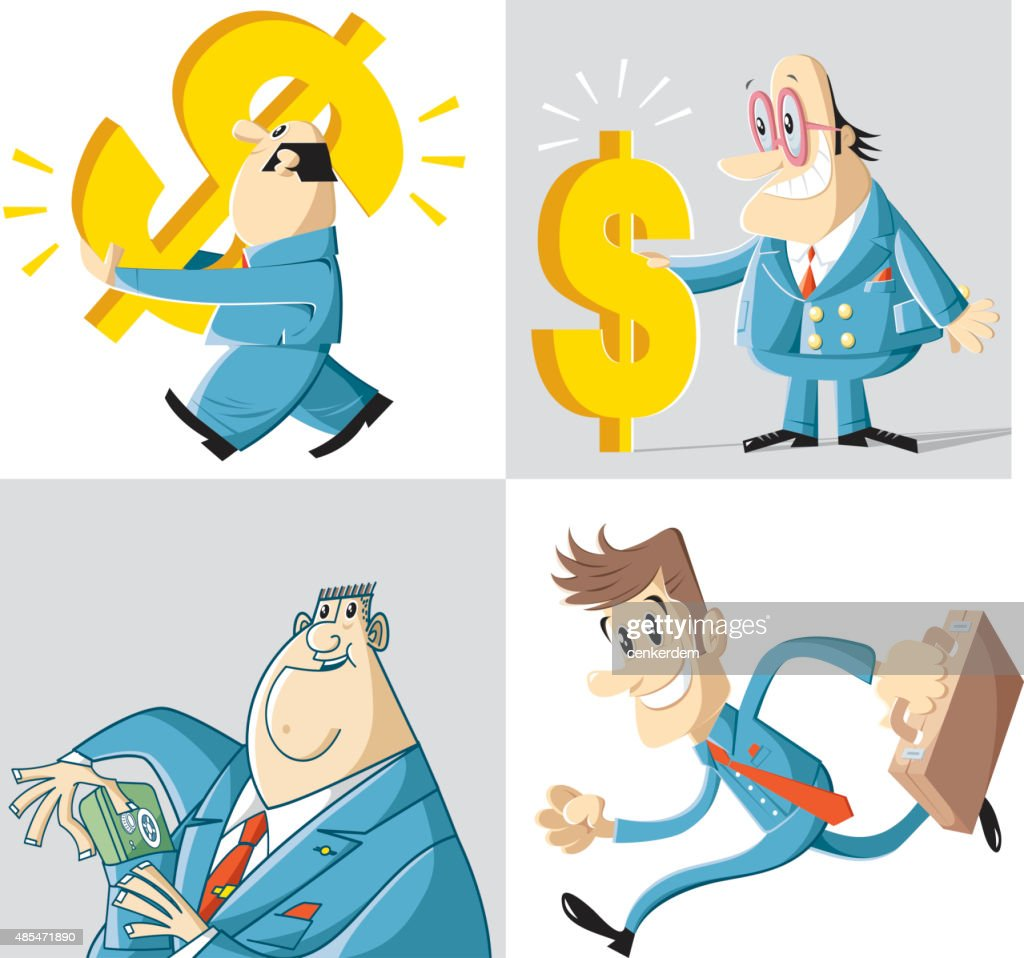 businessman set : stock illustration