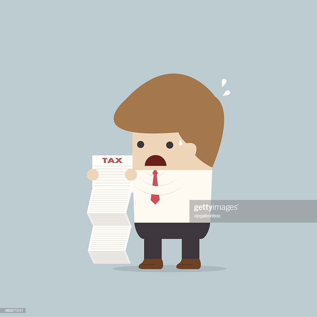 Businessman shocked when he reading the documents